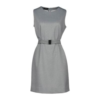 UP TO BE ミニワンピース&ドレス グレー 46 ポリエステル 95% / ポリウレタン 5% ミニワンピース&ドレス
