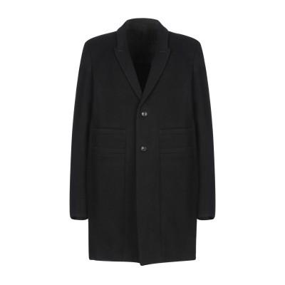 リック オウエンス RICK OWENS コート ブラック 50 バージンウール 70% / ナイロン 20% / カシミヤ 10% コート