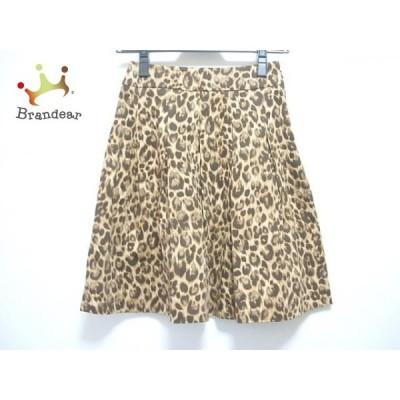 マニアニエンナ スカート サイズS レディース ベージュ×ダークブラウン×マルチ 豹柄     スペシャル特価 20200509
