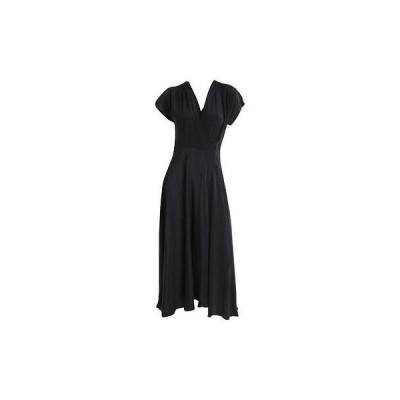 ムーンメードウ ドレス ワンピース Moon & Meadow 8966 レディース ブラック シルク ノースリーブ Full-Length ラップ ドレス 0 BHFO