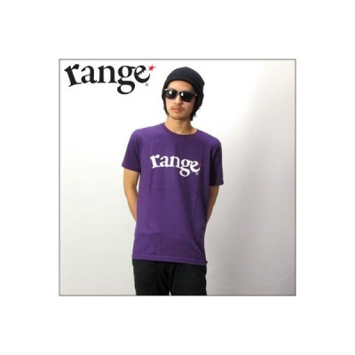 プリントTシャツ range   LOGO  パープル (レンジ)