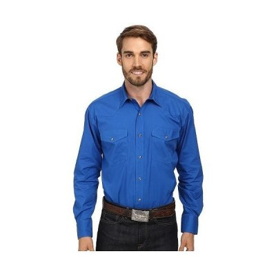 Roper ローパー メンズ 男性用 ファッション ボタンシャツ L/S Solid Basic Snap Front - Blue