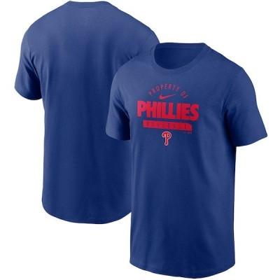 フィリーズ Tシャツ ナイキ Nike ロイヤル メンズ 半袖 tシャツ MLB Primetime Property Of Practice T-Shirt 21nrs