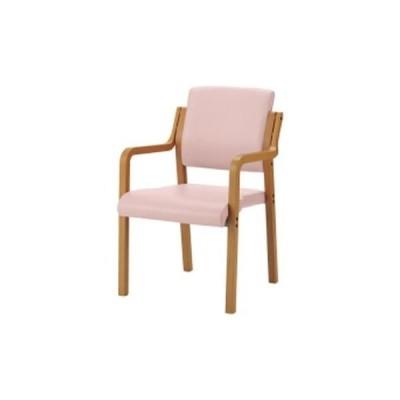 会議用チェア | ジョインテックス 会議イス WFC5ALN ピンク 肘付 木製