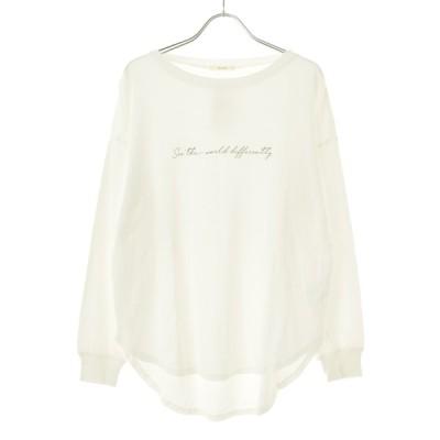 techichi / テチチ プリントワイド 長袖Tシャツ
