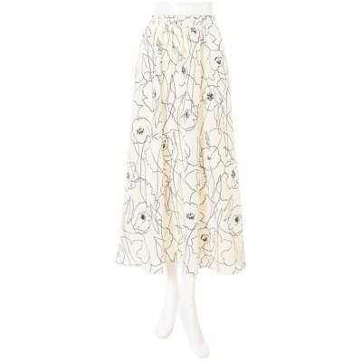 バイカラーフラワーフレアスカート ES20S5098