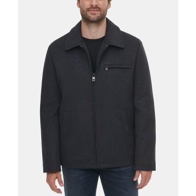 カルバンクライン ジャケット&ブルゾン アウター メンズ Men's Wool Open Bottom Jacket Charcoal