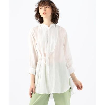 【トゥモローランド】 ラミー オーバーラップシャツ レディース 11ホワイト 36(9号) TOMORROWLAND
