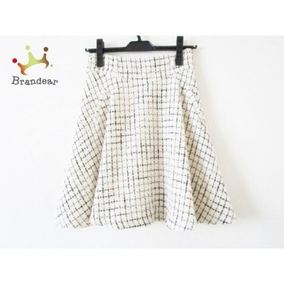 アプワイザーリッシェ スカート サイズ0 XS レディース アイボリー×黒 格子柄/ラメ     スペシャル特価 20200831