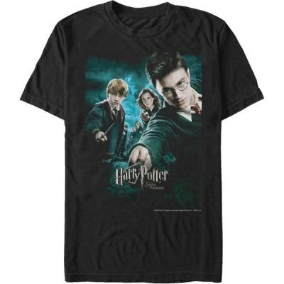 フィフス サン Fifth Sun メンズ Tシャツ トップス Harry Potter Order of The Phoenix Group Poster Short Sleeve T-Shirt Black