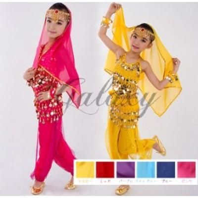 子供キッズ ベリーダンス インドダンス 6点セット S-XXLサイズ6色 ダンス衣装 rt0033(rt0033)