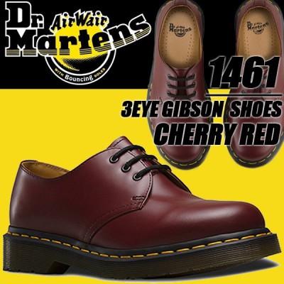 Dr.Martens 1461 3EYE GIBSON CHERRY RED ドクターマーチン 3ホール ギブソン シューズ R11838600 メンズ 11838600 チェリーレッド