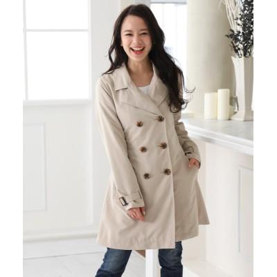 ピーチ起毛ベーシックトレンチコート (コート)(レディース)Coat