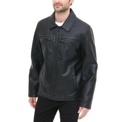リーバイス メンズ ジャケット・ブルゾン アウター Men's Regular-Fit Faux-Leather Jacket