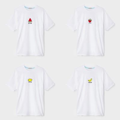 夏 森ガール果物partyバナナ イチゴ  マンゴー  スイカTシャツ  ペアルックトップス 男女 韓国ファッション tシャツ 男女半袖Tシャツ