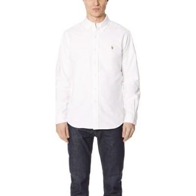 (取寄)ポロ ラルフローレン スタンダード フィット オックスフォード スポーツ シャツ Polo Ralph Lauren Standard Fit Oxford Sport Shirt White