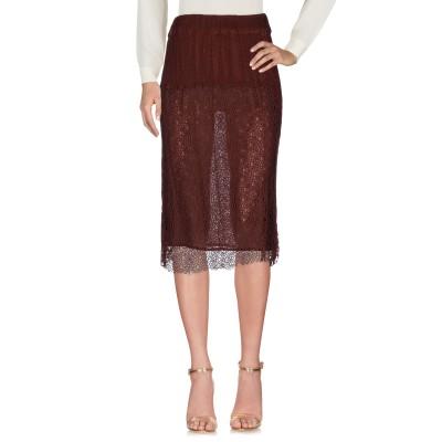 ピンコ PINKO 7分丈スカート ココア 42 コットン 100% / ナイロン 7分丈スカート