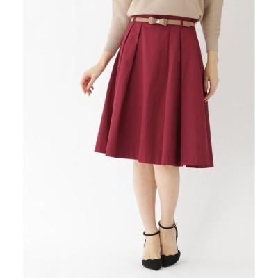 ◆【WEB限定サイズ(SS・LL)あり】リボンベルト付スカート