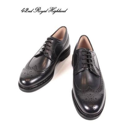 42ND ROYAL HIGHLAND EXPLORER  フォーティーセカンドロイヤルハイランド エクスプローラー ウィングチップ メンズ 革靴 CHN6501-31 ネイビー 国内正規品