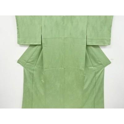 宗sou 松模様織り出し一つ紋色無地着物【リサイクル】【着】
