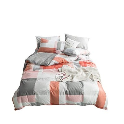 BoxHome ティーンガール フル掛け布団カバー 3ピース クイーンキング寝具コレクション コットン100% 軽量 通気性