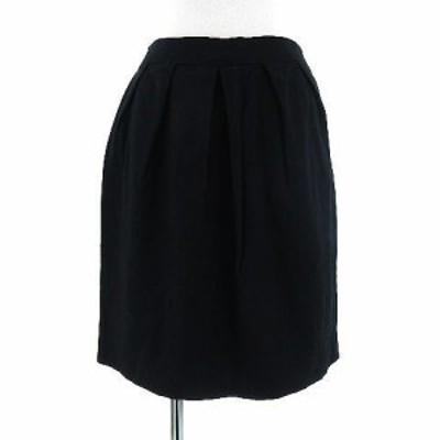 【中古】ユナイテッドアローズ UNITED ARROWS スカート ミニ ウール混 ブラック 黒 36 レディース