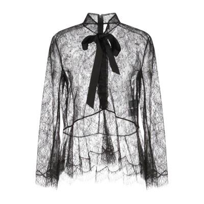 OLIVIER THEYSKENS シャツ ブラック 40 レーヨン 60% / ナイロン 40% シャツ