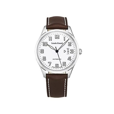 Louis Erard Men's 'Heritage' Limited Edition White Dial Brown Leather Strap並行輸入品