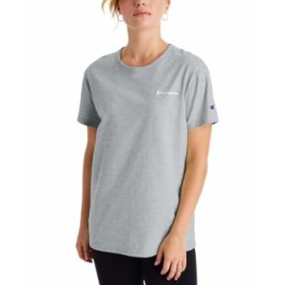 チャンピオン レディース Tシャツ トップス Women's Cotton Logo Boyfriend T-Shirt Oxford Gray