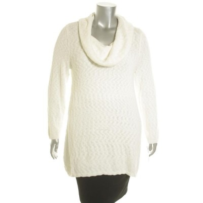 スタイル&コー セーター ニット Style&Co. レディース セーター Cowl Neck 1X Cloud コットン Blend Original Plus LAFO