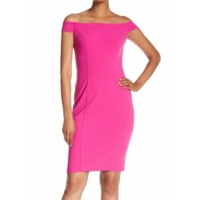 Vince ヴィンス ファッション ドレス Vince Camuto Womens Dress Pink Size 8 Off-Shoulder Crepe Sheath