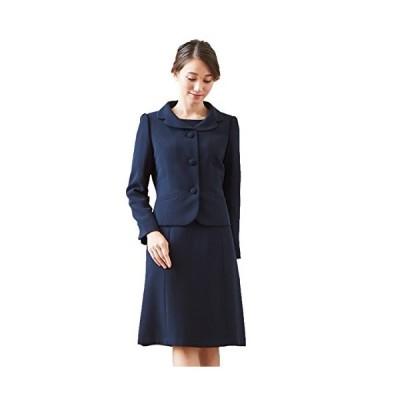 [B-GALLERY] お受験アンサンブルスーツ ジャケット&ワンピース 濃紺 洗える 夏対応 ネイビー 3号21号