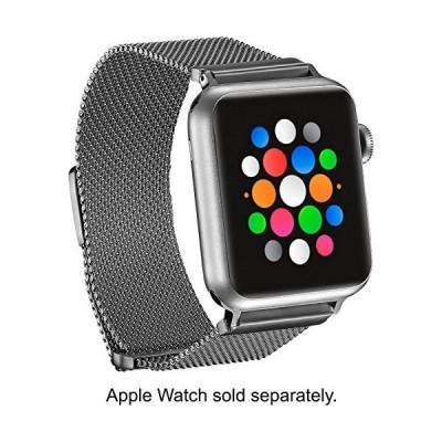 送料無料!プラチナ???磁気ステンレススチールメッシュバンドfor Apple Watch 38?mm???シルバー