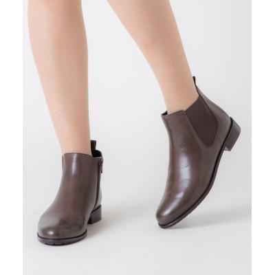 chumchum / coca / コカ サイドゴア 2.5cmヒール 本革 ショートブーツ 内側ジッパー付き WOMEN シューズ > ブーツ