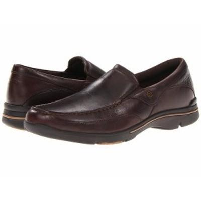 ロックポート メンズ スリッポン・ローファー シューズ Eberdon Dark Brown Leather