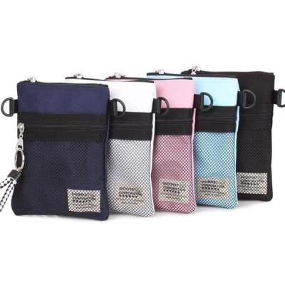 レディース ショルダーバッグ RB mesh pocket mini cross bag with key holder