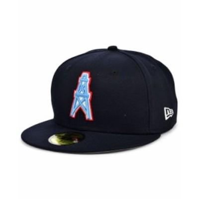 ニューエラ メンズ 帽子 アクセサリー Houston Oilers Team Basic 59FIFTY Cap Navy