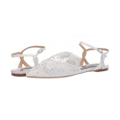Badgley Mischka バッジリーミシュカ レディース 女性用 シューズ 靴 フラット Carissa - Soft White