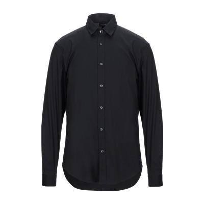ジャストカヴァリ JUST CAVALLI シャツ ブラック 44 コットン 76% / ナイロン 21% / ポリウレタン 3% シャツ