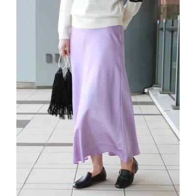 スカート BEAMS LIGHTS / サテン バイアス スカート