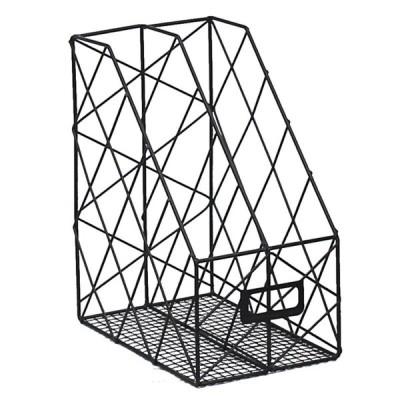 [ゴールド,1層]北欧インスシンプルな錬鉄デスクトップブックオーガナイザー収納ラック本棚ドキュメントマガジン収納ボックスファイルホルダーオフィスラック