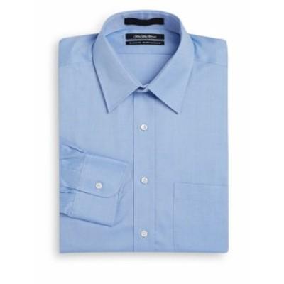 サックスフィフスアベニュー Men Clothing Classic-Fit Woven Cotton Dress Shirt