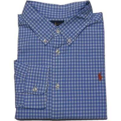 ポロ ラルフローレン ボーイズサイズ 長袖 ボタンダウンシャツ ブルー Polo Ralph Lauren boys 255