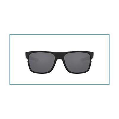Oakley Men's Crossrange 0OO9361 Non-polarized Iridium Square Sunglasses, POLISHED BLACK, 57 mm【並行輸入品】