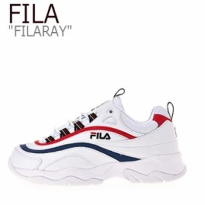 フィラ レイ スニーカー FILA メンズ レディース RAY レイ WHITE RED BLUE ホワイト レッド ブルー FS1SIB1082X シューズ