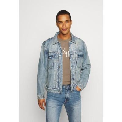 オールセインツ メンズ ファッション DUNMORE JACKET - Denim jacket - mid indigo