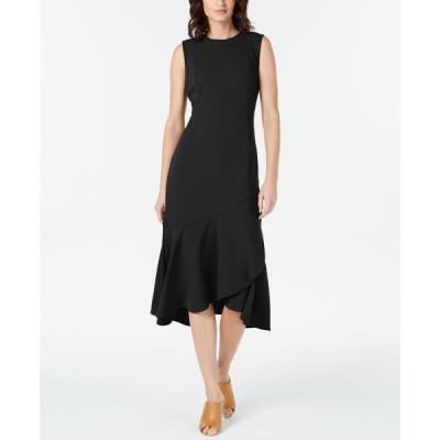 カルバンクライン レディース ワンピース トップス Sleeveless High-Low Wrap-Hem Dress