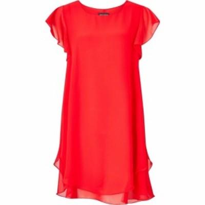 ジュームズ レイクランド James Lakeland レディース ワンピース ワンピース・ドレス RUFFLE SLEEVE DRESS Red