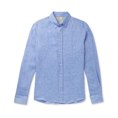 ブルネロ クチネリ BRUNELLO CUCINELLI シャツ ブルー 3XL リネン 100% / コットン シャツ