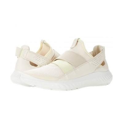ECCO エコー レディース 女性用 シューズ 靴 スニーカー 運動靴 ST.1 Lite Slip-On - Limestone/Limestone Textile Cow Leather